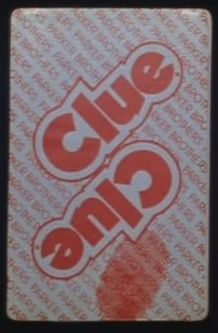 Clue card back